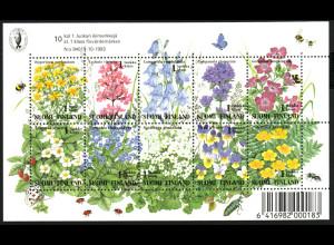 Finnland: 1994, Blockausgabe Wiesenblumen