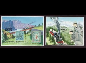 Dominica: 1991, Blockpaar Schweizerische Zahnradbahnen