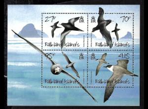 Falklandinseln: 2010, Blockausgabe Sturmvögel