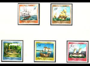 Papua Neuguinea: 1987, Freimarken Alte Segelschiffe