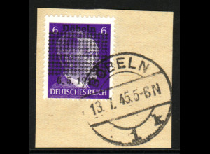 Döbeln: Hitler-Überdruck (Briefstück, bessere a-Farbe, farbgepr. Kunz BPP)