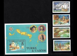 Turks- und Caicos-Inseln: 1987, Entdeckung von Amerika