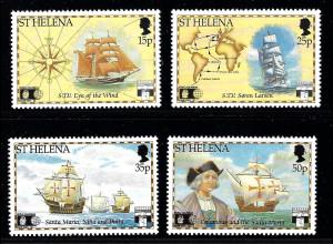 St. Helena: 1992, Entdeckung von Amerika (Segelschiffe)