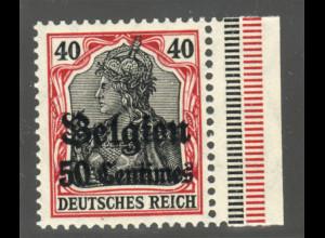 Belgien: 1914, 1. Überdruckausgabe 50 C. auf 40 Pfg. postfr. Friedensdruck