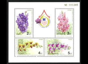 Thailand: 1986, Blockausgabe Orchiedeen (leichter Eckbug, M€ 120,-)