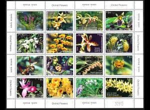 Nepal: 2007, Zdr.-Bogen Orchideen