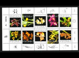 Venezuela: 1995, Kleinbogen Orchideen