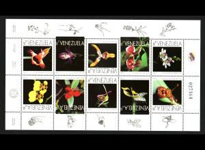 Venezuela: 1996, Kleinbogen Orchideen