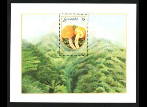 Grenada: 1986, Blockausgabe Pilze
