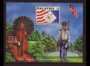 Malaysia: 1992, Blockausgabe Briefmarkenausstellung Kuala Lumpur (seltene weite Zähnung)