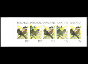 Färöer: 1999, Markenheftchen Standvögel (I)