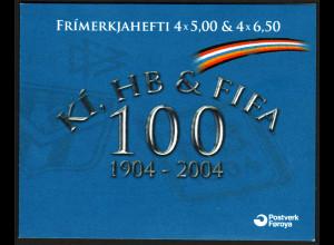 Färöer: 2004, Markenheftchen Fußball