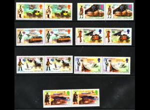 Antigua und Barbuda / Barbuda: 1974, Überdruckausgabe Weltpostverein (Zdr.-Paare)