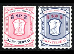 Montserrat: 1983, Freimarken Wappen 12 und 30 $