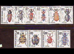 Frankreich: 1982/83, Portomarken Käfer
