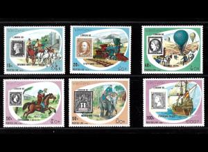 Laos: 1990, Briefmarkenausstellung London (Motiv Marke auf Marke)