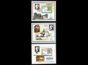 Guyana: 1990, Blocksatz 150 Jahre Briefmarken (Motiv Marke auf Marke)
