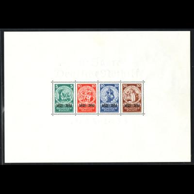 1933, Blockausgabe Deutsche Nothilfe (Erstfalz, Fotoattest Schlegel BPP)