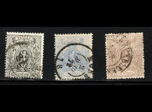 Belgien: 1866, Wappen 1 - 5 C. gezähnt (M€ 200,-)