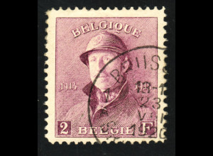 Belgien: 1919/20, Freimarken König Albert in Felduniform 2 Fr.