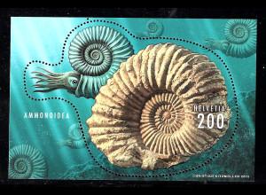 Schweiz: 2015, Blockausgabe Ammonit