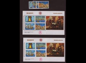 Bangladesch: 1976, 200 Jahre USA (Satz und Blockpaar gez. und ungezähnt, auch Motiv Segelschiffe, M€ 86,-)