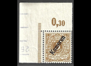 Kamerun: 1897, Krone/Adler 3 Pfg seltene Farbe, farbgepr. Jäschke-L BPP