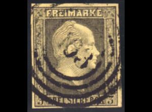 "Preussen: 1858, 3 Sgr., vollrandige Marke zentrischer Nummernstempel ""163"""