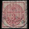 Hannover: 1856, Krone 3 Pfg. weitmaschiges Netz