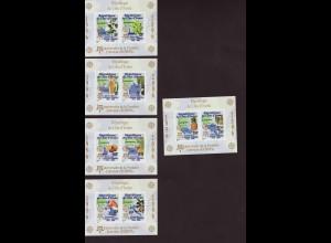 Elfenbeinküste: 2005, Blocksatz 50 Jahre Europamarken (5 Blöcke, Motiv Landkarten und Nutzpflanzen, M€ 80,-)