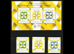 Jamaika: 2006, 50 Jahre Europamarken (Satz und Blockausgabe)