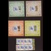 Aserbaidschan: 2005, 50 Jahre Europamarken (Satz gez. und ungezähnt sowie Blocksatz, Motiv Marke auf Marke und Symbolik)