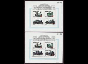 Thailand: 1990, Blockpaar Lokomotiven (gez. und ungezähnt)