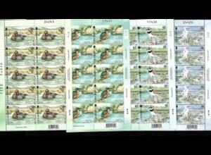 Guernsey: 2001, Kleinbogensatz Lebensspender Wasser (Vögel, enthält auch Ausgen Europa-Cept)