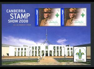Australien: 2008, Blockausgabe Pfadfinder