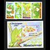 Montserrat: 1987, Orchideen (Satz und Blockausgabe)