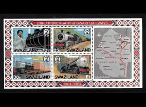 Swaziland: 1984, Blockausgabe Staatliche Eisenbahn