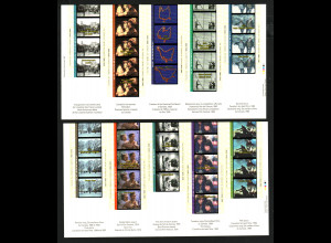 Kanada: 1996, Blockpaar 100 Jahre Kino (selbstklebend)