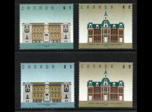 Kanada: 1994, Freimarken Architektur (jeweils beide Zähnungen)