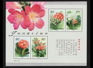 China Volksrepublik: 2000, Blockausgabe Klivien (Blumen)