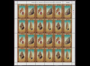 Oman: 2001, Zdr-KB Meeresschnecken (enthält 6 Viererblöcke)
