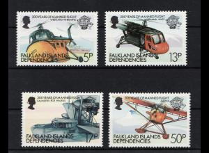 Falkland Islands Dependencies (allgemein): 1983, Flugzeuge und Hubschrauber