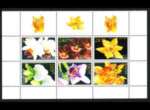 Niederländische Antillen: 2006, Orchideen (Sechserblock)