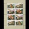 Tadschikistan: 2002, Kleinbogen Rohrkatze (WWF-Ausgabe, Kleinbogen aus 2 VB)