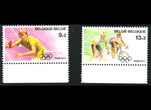 Belgien: 1988, Sommerolympiade Seoul (Tischtennis und Fahrradfahren)