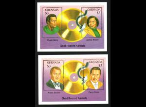 Grenada: 1992, Blockpaar Goldene Schallplatten (u. a. James Brown und Frank Sinatra)