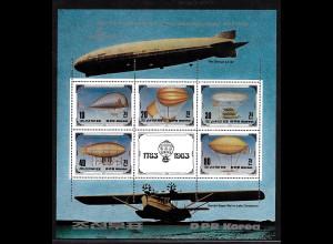 Nordkorea: 1982, Blockausgabe 200 Jahre Luffahrt (Luftschiffe)