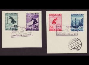 Österreich: 1936, FIS-Wettkämpfe (II) (dekorative Briefstücke)