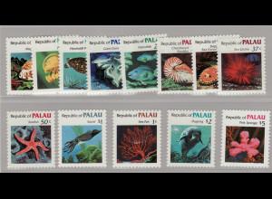 Palau-Inseln: 1984, Freimarkenergänzungswerte Meerestiere