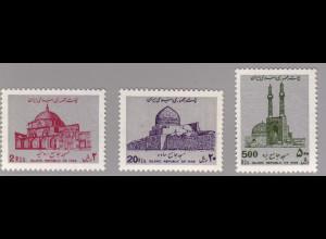 Iran: 1988, Freimarken Moscheen (mit WZ)